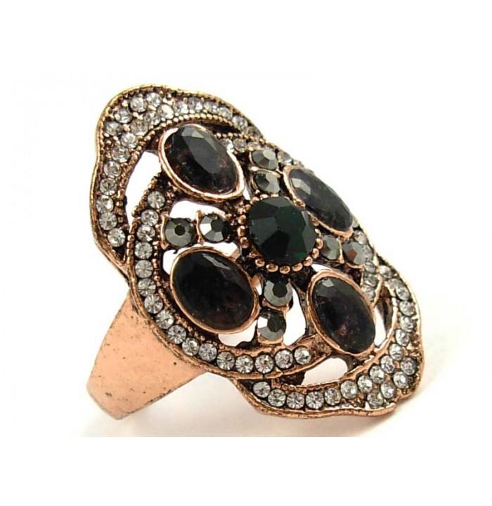 Ring Oriental Emerald Cordieryte Zirconia