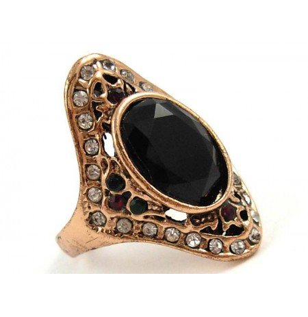Ring Oriental Black Onyks Zirconia