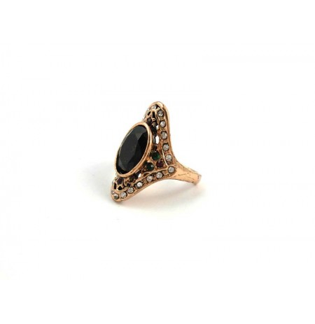 Ring Oriental Black Onyks Zirconia
