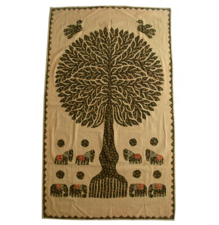 Overlay Tree of Life Patchwork Tapestries Wall Hanging