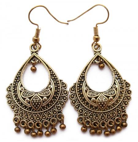 Oriental Golden Earrings