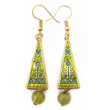 Oriental Earrings Multicolored Picture