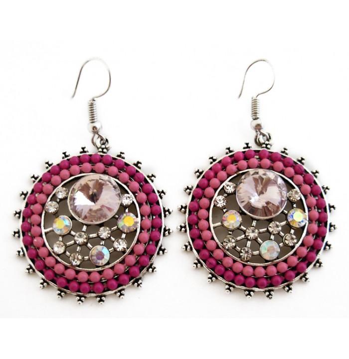 Earring Oriental Beads Indian Bollwood