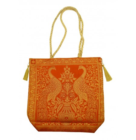 Bag Peacock India Silk