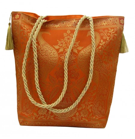 Bag Peacock India Silk