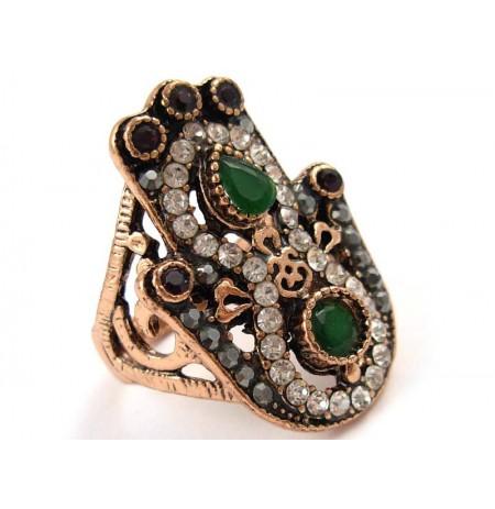 Ring Emerald Garnet Zirconia
