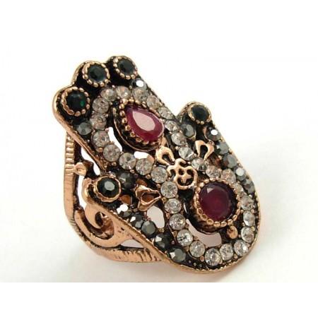 Ring Emerald Ruby Zirconia