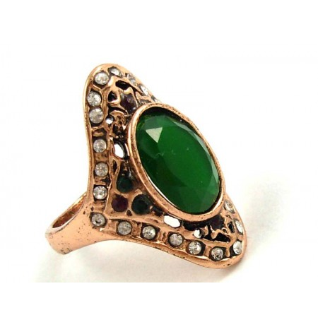 Ring Oriental Emerald  Zirconia